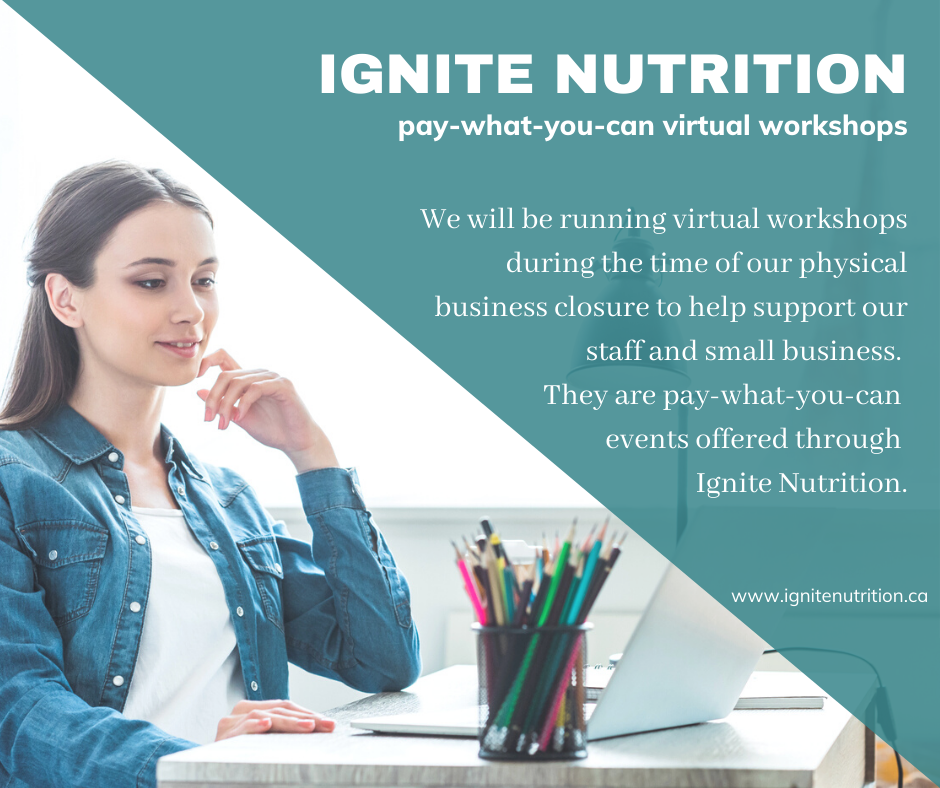 Ignite Nutrition Pay What You Can Event