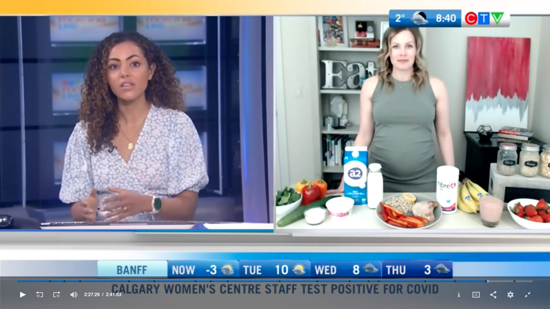 Andrea on CTV Calgary with a2Milk and Webber Fibre4