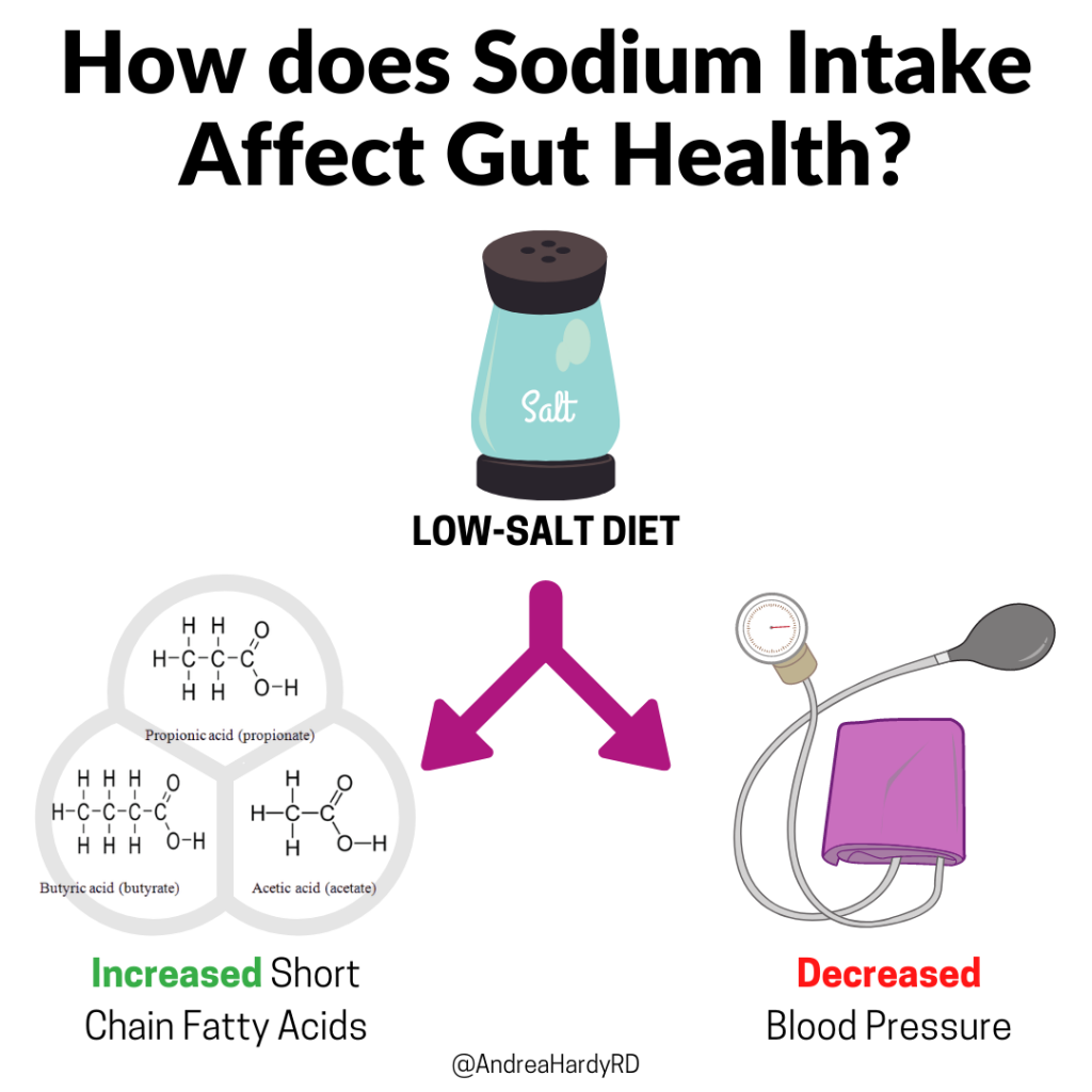 Image of @andreahardyrd Instagram post about how does sodium intake affect gut health