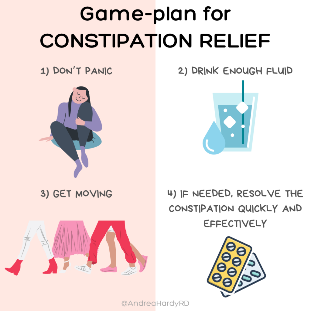 Image of @andreahardyrd Instagram post about what to do if constipated