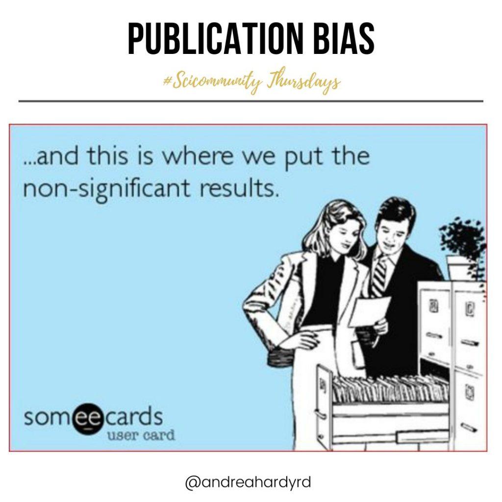 Image of @andreahardyrd Instagram post about publication bias