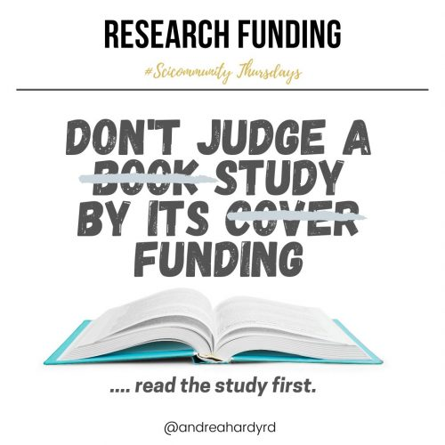 Image of @andreahardyrd Instagram post about research funding
