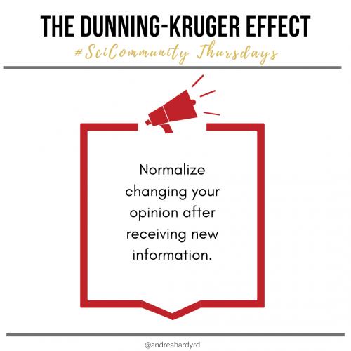 Image of @andreahardyrd Instagram post about The dunning-kruger effect