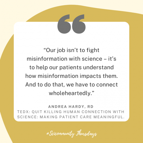 Image of @andreahardyrd Instagram post about Making Patient Care Meaningful